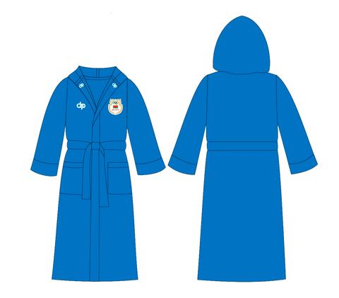 ОБРАЗЕЦ халата махрового Diapolo по водным видам спорта с эмблемой НОК (Национального Олимпийского Комитета)