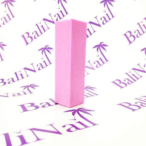 Бафик для натуральных ногтей розовый, зернистость 180 грит