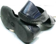 Мягкие босоножки с закрытым задником мужские Luciano Bellini 76389 Blue.