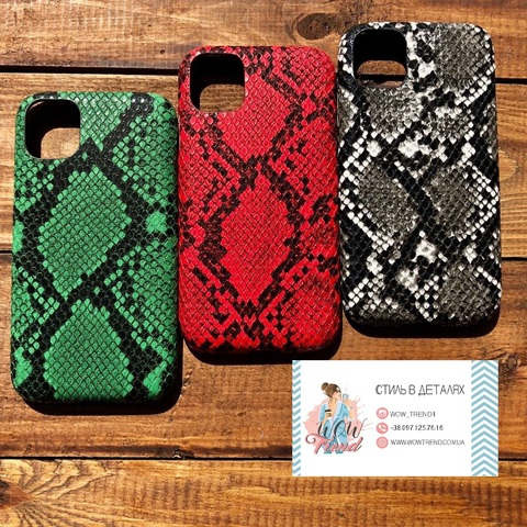 Чехол iPhone 11 Leather Reptile case /red/