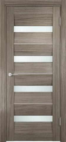 Дверь 2/15 стекло белое (дуб седой, остекленная экошпон), фабрика Ладора