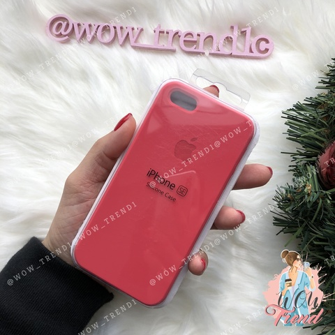 Чехол iPhone 5/5s/SE Silicone Case /red raspberry/ ягодный 1:1