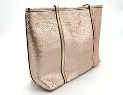Бронзовая объемная сумка с отделкой из пайеток