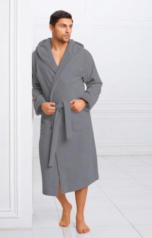 Мужской бамбуковый халат с капюшоном 11008-4 Laete