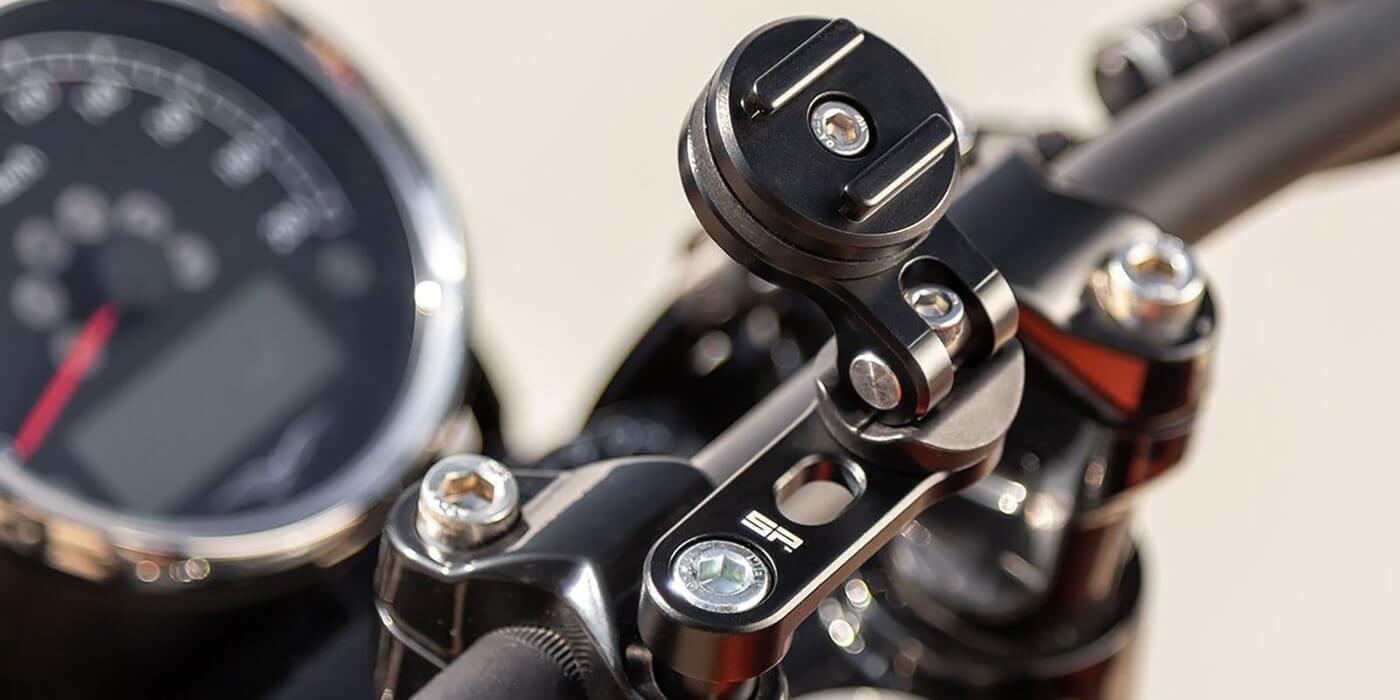 Крепление на вынос руля мотоцикла SP Connect SP BAR CLAMP MOUNT PRO на руле