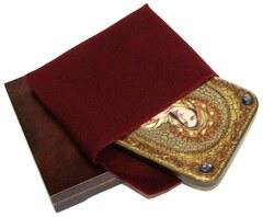 Инкрустированная икона Святая Равноапостольная Мария Магдалина 20х15см на натуральном дереве в подарочной коробке