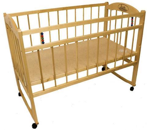 Детская кроватка Заюшка 3-3 колесо/качалка