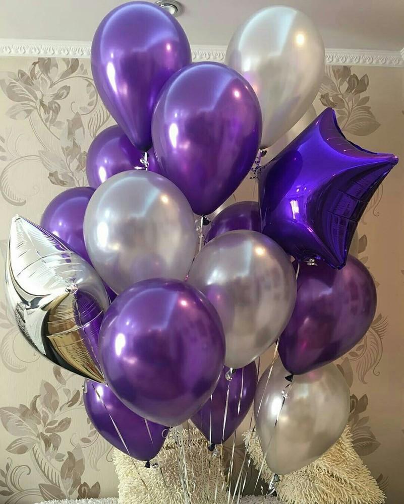 Сиреневые воздушные шары (фото 2)