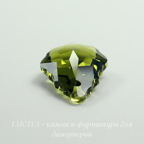 6090 Подвеска Сваровски Baroque Olivine (22х15 мм)