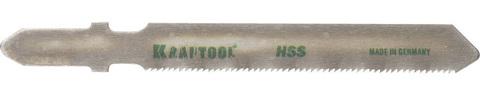 Полотна KRAFTOOL, T118G, для эл/лобзика, HSS, по металлу (0,5-1,5мм), EU-хвост., шаг 0,9мм, 55мм, 2шт