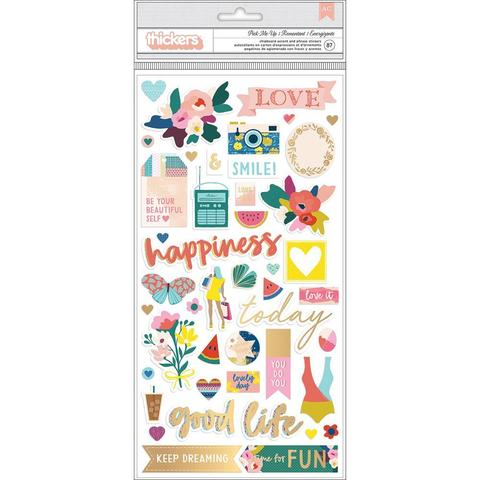Чипборд -Paige Evans Pick Me Up Thickers Stickers -15х30см- 2шт