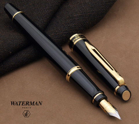 Перьевая ручка Waterman Expert 3, цвет: Black Laque GT, перо: F123