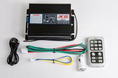 Усилитель ESAS-928 200w ( Микрофон+голос X-5) пульт хром