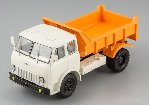 MAZ-503B tipper white-orange 1:43 Nash Avtoprom