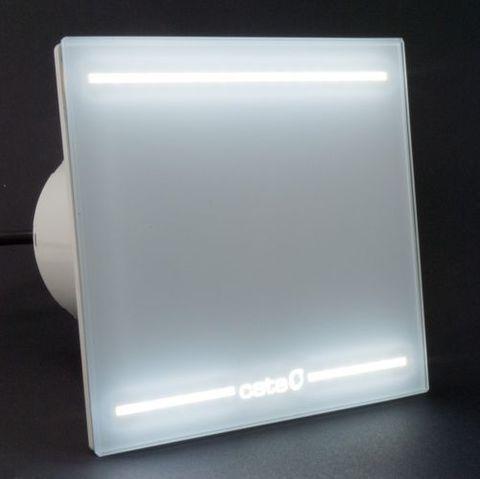 Накладной вентилятор Cata E 100 GL Light (LED подсветка) +  обратный клапан
