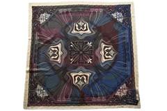 Шерстяной женский разноцветный платок (0102 PLATOK 8)