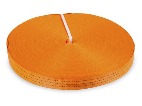Лента текстильная для ремней TOR  50 мм 4500 кг (оранжевый), м