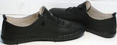 Черные кроссовки для девушек Evromoda 115 Black