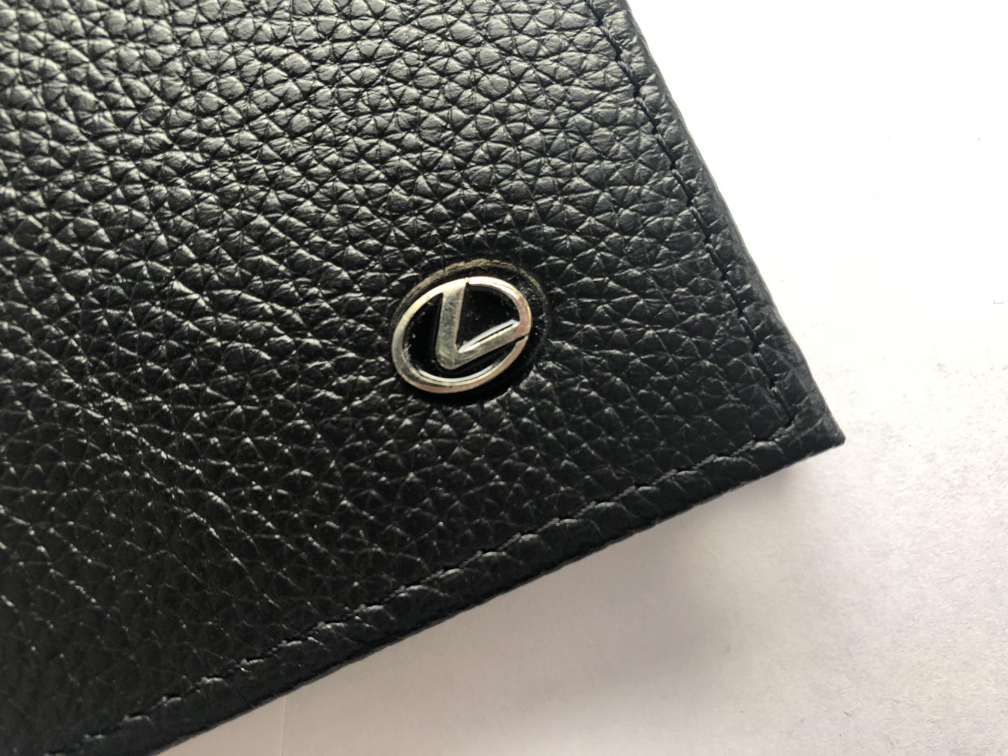 Портмоне для автодокументов из натуральной кожи с логотипом LEXUS