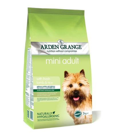 Arden Grange Adult Mini сухой корм для собак мелких пород (с ягненком и рисом) 2 кг