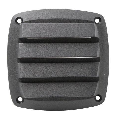 Крышка вентиляции пластмассовая 85х85 мм, черная