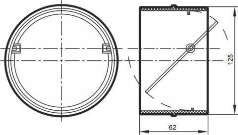Соединитель-муфта с обратным клапаном 125 мм