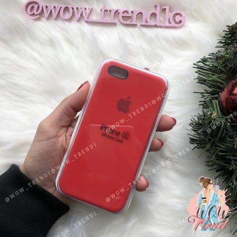 Чехол iPhone 5/5s/SE Silicone Case /red/ красный 1:1