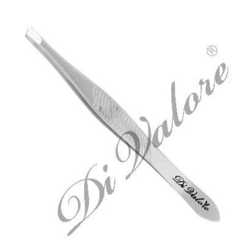Di Valore Пинцет для бровей со скошенными кончиками длина 8,9см матовый 103-025