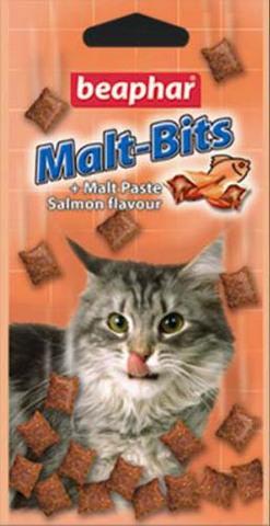 11609 Беафар Мальт-битс подушечки д/кошек для вывода шерсти из желудка 150гр*12