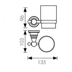 Стакан с настенным креплением KAISER Arno KH-2205 схема