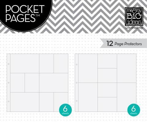 Набор файлов 30х30см Me & My Big Ideas Pocket Pages Protectors- 12 шт