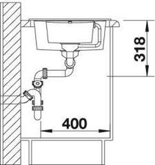 Мойка кухонная Blanco Metra 6S Compact - вид сбоку