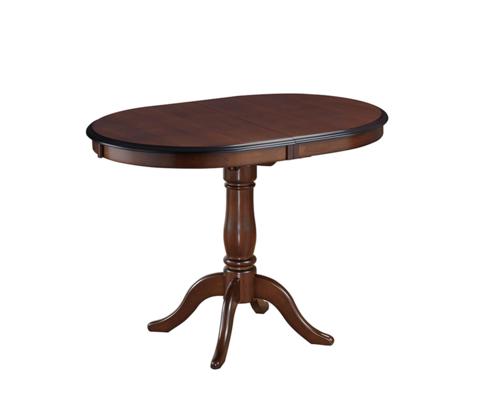 Стол обеденный Solerno овальный раскладной деревянный темный орех