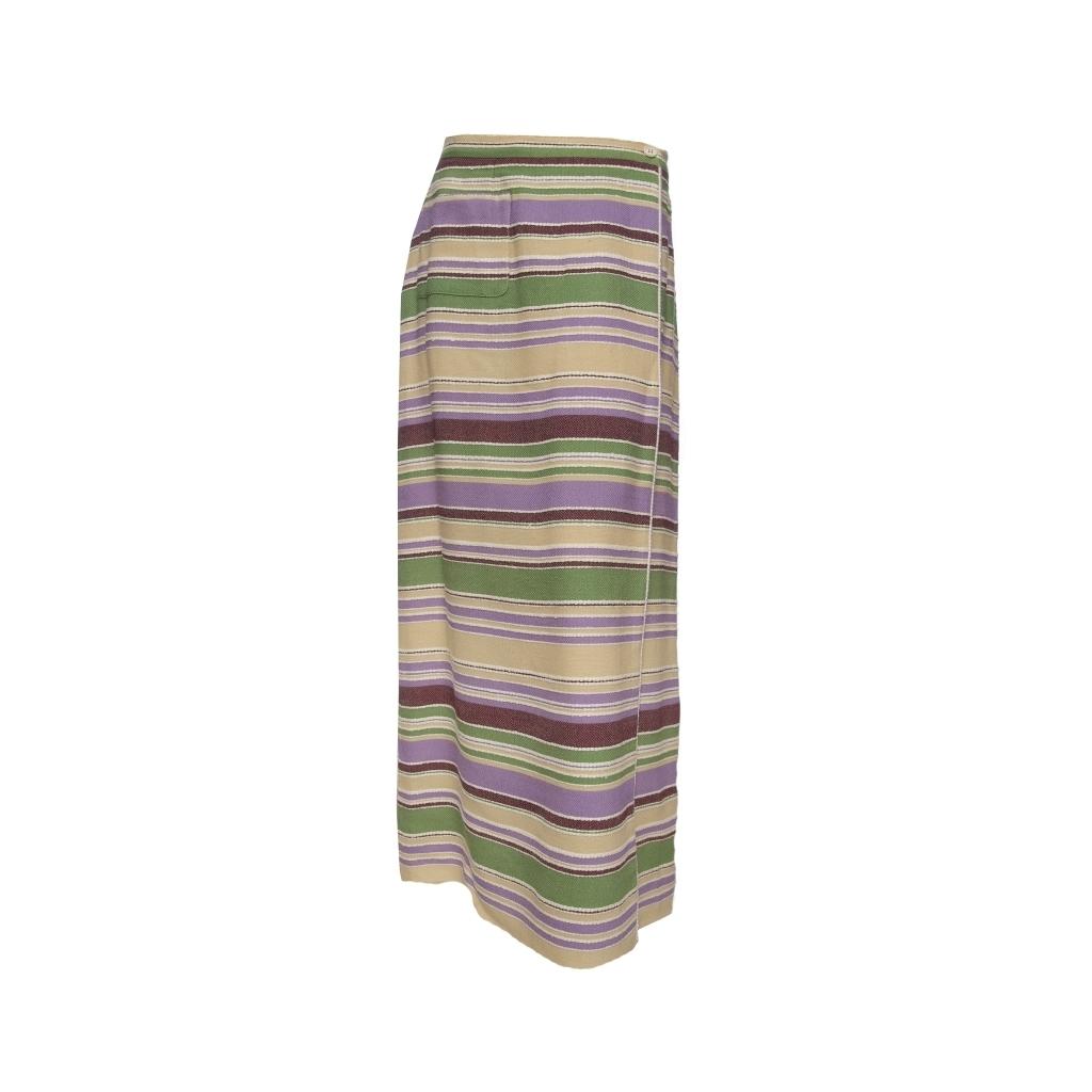Элегантная длинная юбка из твида в полоску от Chanel, 42 размер.