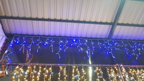 Бахрома светодиодная уличная 5*0,7м 150LED синий