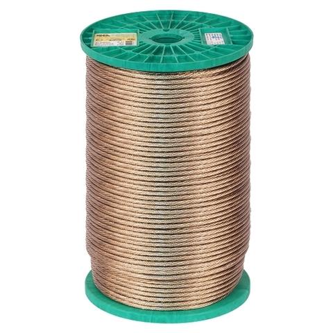 Трос металлополимерный ПР-5,0 диаметр 5 мм, ( катушка 200 м. п.)