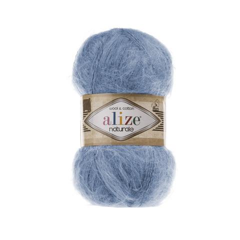 Пряжа Alize Naturale 549 голубой