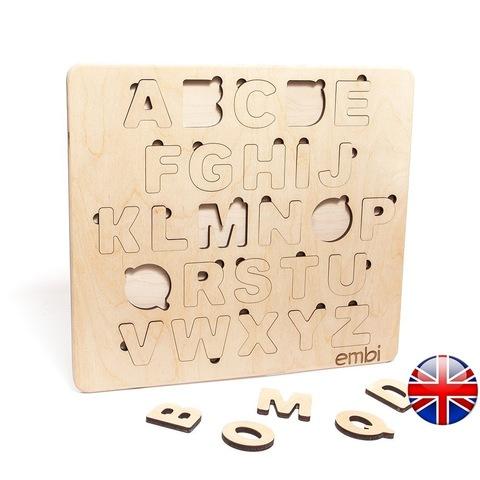 Деревянная азбука английский язык (размер мини)