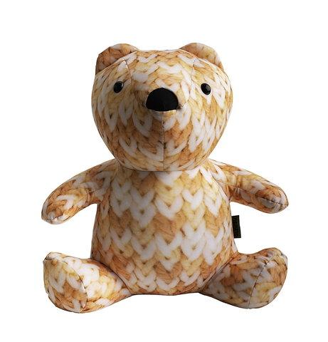 Подушка-игрушка «МиниМишка Вязаный»-2