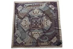 Шерстяной женский коричневый платок (0105 PLATOK 8)