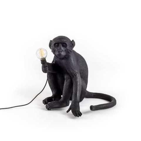 Настольный светильник копия Monkey by Seletti (черный)
