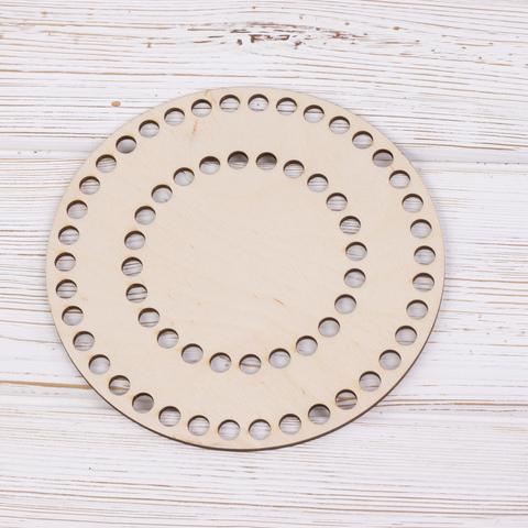 Круглое деревянное дно с перфорацией 16см