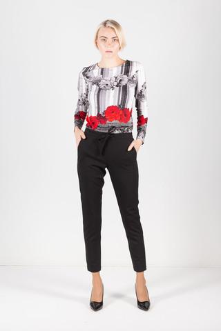 Фото зауженные брюки черного цвета - Брюки А495-714 (1)