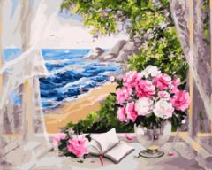 Морской ветерок- раскраски  по номерам