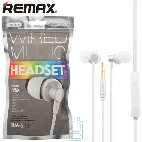 Гарнитура Remax RM-512 Белая