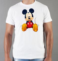 Футболка с принтом Микки Маус (Mickey Mouse) белая 0020