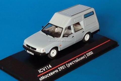 Moskvich-2901 restyling 2000 gray 1:43 ICV114