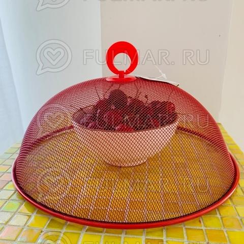 Крышка-сетка для продуктов d=28 см Красная