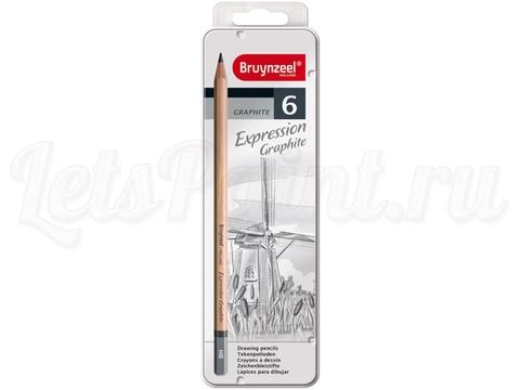 Набор из 6 карандашей для графики Bruynzeel Expression