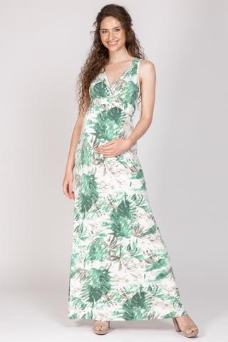 Платье для беременных 10666 зеленый